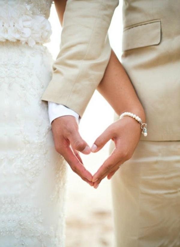 Романтични сватбени снимки